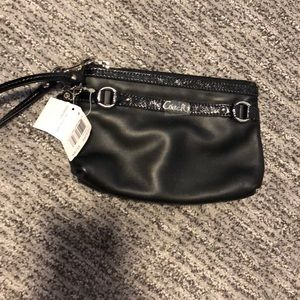 Brand new Black Coach wristlet